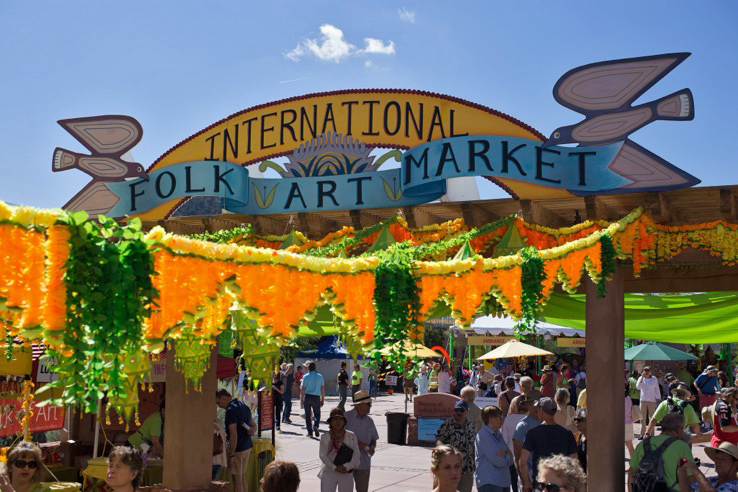 Folk Art Market Entrance